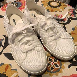 White Superga Sneakers 2750 Flyknit